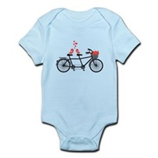 tandem bicycle with cute love birds Body Suit
