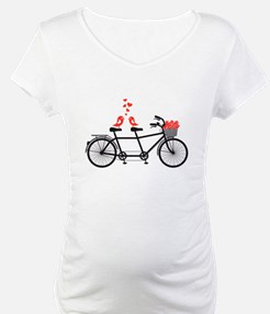 tandem bicycle with cute love birds Shirt