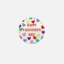 Valentines Day Hearts Mini Button
