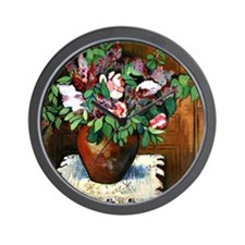Suzanne Valadon - Vase of Flowers Wall Clock