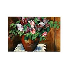 Suzanne Valadon - Vase of Flowers Rectangle Magnet