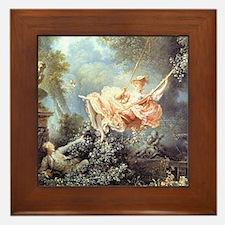 Fragonard - The Swing painting Framed Tile