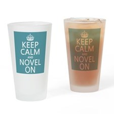 Keep Calm and Novel On Drinking Glass