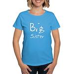 Big Sister (Black Text) Women's Dark T-Shirt
