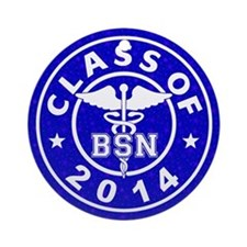 Class Of 2014 BSN Ornament (Round)