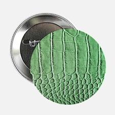 "Faux Green crocodile skin pattern 2.25"" Button"