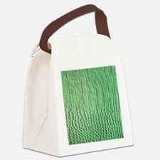 Faux Green crocodile skin pattern Canvas Lunch Bag