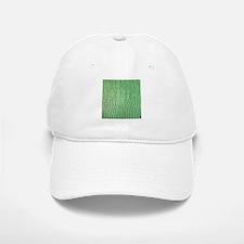 Faux Green crocodile skin pattern Baseball Baseball Cap
