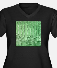 Faux Green crocodile skin pattern Plus Size T-Shir