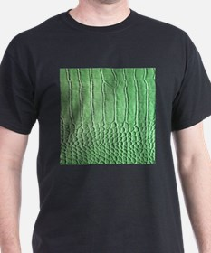 Faux Green crocodile skin pattern T-Shirt