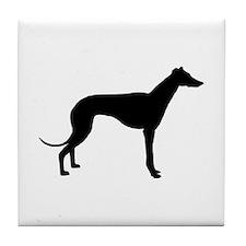 greyhound 2 Tile Coaster
