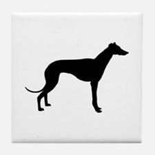 greyhound 2 Tile Coaster