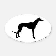 greyhound 2 Oval Car Magnet