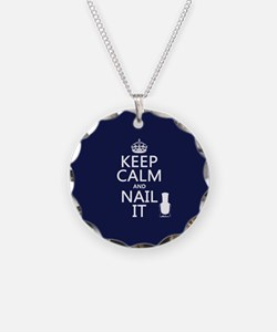 Keep Calm and Nail It Necklace