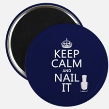 Keep Calm and Nail It Magnets