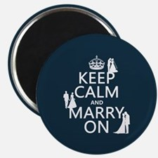 Keep Calm and Marry On (heterosexual) Magnets