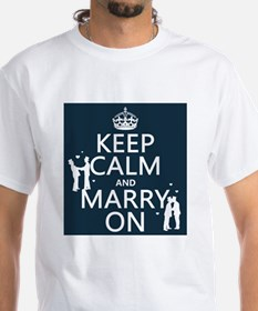 Keep Calm and Marry On (gay marriage) T-Shirt