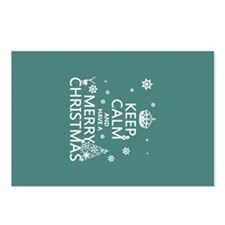 Keep Calm and Have A Merry Christmas Postcards (Pa