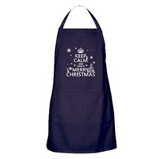 Keep Calm and Have A Merry Christmas Apron (dark)