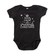Keep Calm and Have A Merry Christmas Baby Bodysuit