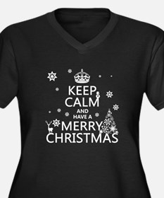 Keep Calm and Have A Merry Christmas Plus Size T-S