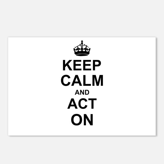 Keep Calm and Act on Postcards (Package of 8)