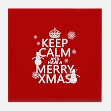 Keep Calm and Have A Merry Xmas Tile Coaster