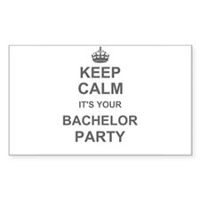 Keep Calm its your Bachelor Party Decal