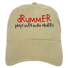 Drummer Plays Well With Others Baseball Baseball Cap