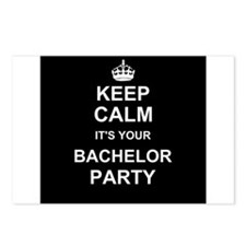 Keep Calm its your Bachelor Party Postcards (Packa