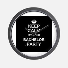 Keep Calm its your Bachelor Party Wall Clock