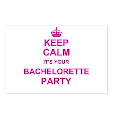 Keep Calm its your Bachelorette Party Postcards (P