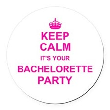 Keep Calm its your Bachelorette Party Round Car Ma
