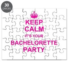 Keep Calm its your Bachelorette Party Puzzle