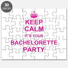Keep Calm its your Bachelorette Party Puzzle