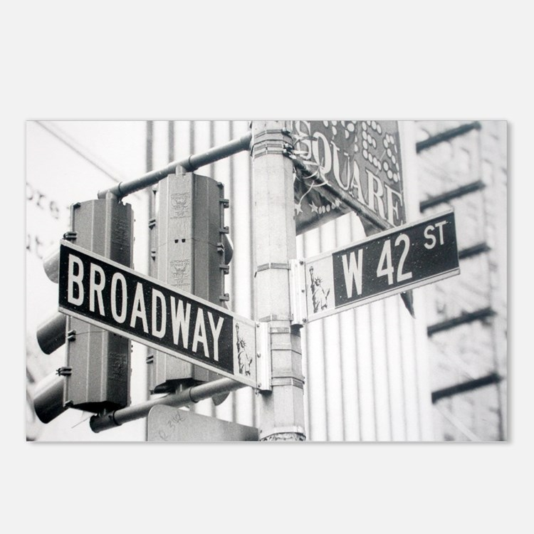 NY Broadway Times Square - Postcards (Package of 8