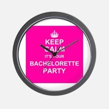 Keep Calm its your Bachelorette Party Wall Clock
