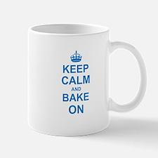 Keep Calm and Bake on - Blue Mugs