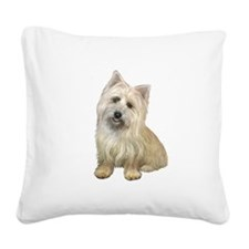 Cairn Terrier (#4B) Square Canvas Pillow