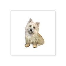 "Cairn Terrier (#4B) Square Sticker 3"" x 3"""