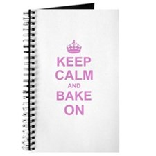 Keep Calm and Bake on - Pink Journal