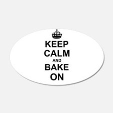 Keep Calm and Bake on - Black Wall Sticker