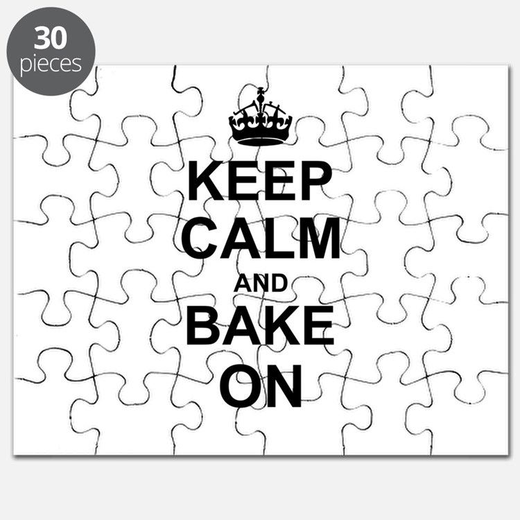 Keep Calm and Bake on - Black Puzzle