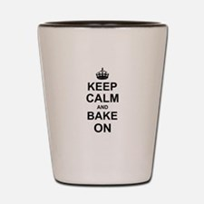 Keep Calm and Bake on - Black Shot Glass