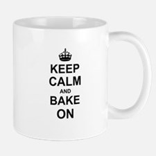 Keep Calm and Bake on - Black Mugs