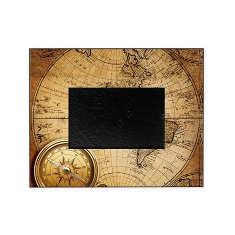 voyage compass vintage world map picture frame by listing store 30702168. Black Bedroom Furniture Sets. Home Design Ideas