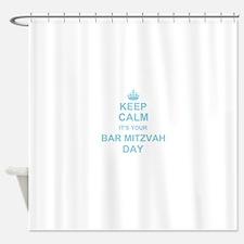 Keep Calm its your Bar Mitzvah Shower Curtain