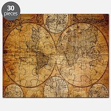 voyage compass vintage world map Puzzle