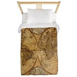 Vintage world map Twin Duvet Covers