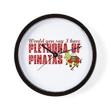 Plethora of Pinatas Wall Clock
